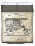 1889 Ambulance Patent Duvet Cover