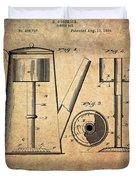 1889 Coffee Maker Patent Duvet Cover