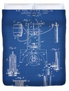 1890 Bottling Machine Patent - Blueprint Duvet Cover