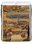 1890s Oriental Railways To Constantinople Duvet Cover