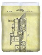 1891 Locomotive Patent Duvet Cover