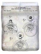 1893 Pocket Watch Patent Duvet Cover