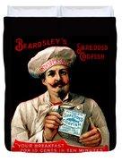 1895 Shredded Codfish Breakfast Duvet Cover