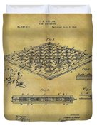 1896 Chess Set Patent Duvet Cover