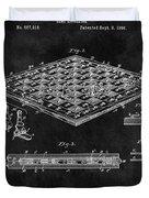 1896 Chessboard Patent Duvet Cover