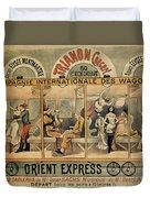 1896 Orient Express Musical Revue Paris Duvet Cover
