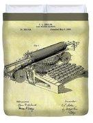 1896 Typewriter Patent Duvet Cover