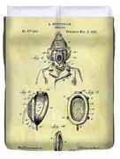 1897 Fireman's Inhaler Patent Duvet Cover