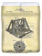 1897 Oil Rig Patent Duvet Cover