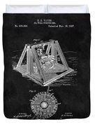 1897 Oil Well Rig Patent Design Duvet Cover