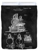 1898 Locomotive Headlight Patent Duvet Cover