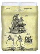 1898 Locomotive Patent Duvet Cover