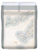 1898 Us Geological Survey Map Of Gay Head Marthas Vineyard Massachusetts Duvet Cover