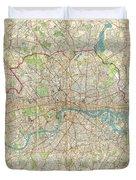 1899 Bartholomew Fire Brigade Map Of London England  Duvet Cover