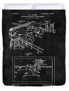 1899 Horse Track Patent Duvet Cover