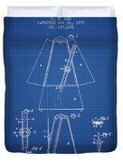 1899 Metronome Patent - Blueprint Duvet Cover
