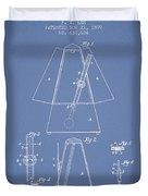 1899 Metronome Patent - Light Blue Duvet Cover