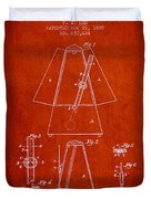 1899 Metronome Patent - Red Duvet Cover