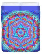 Birth Mandala- Blessing Symbols Duvet Cover