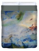 19. Blue Green Brown Abstract Glaze Painting Duvet Cover