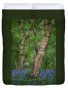 Shallow Depth Of Field Landscape Of Vibrant Bluebell Woods In Sp Duvet Cover