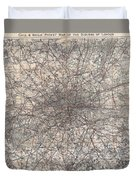 1900 Gall And Inglis' Map Of London And Environs Duvet Cover