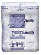 1900 Knife Switch Patent Blueprint Duvet Cover