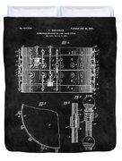 1900 Orchestra Drum Patent Duvet Cover