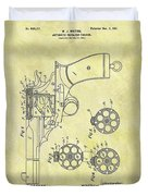 1901 Automatic Revolver Patent Duvet Cover