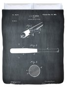 1902 Baseball Bat Patent In Chalk Duvet Cover