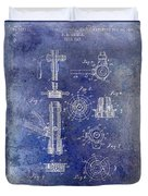1903 Beer Tap Patent Blue Duvet Cover