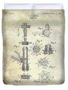 1903 Beer Tap Patent Duvet Cover