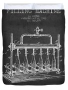 1903 Bottle Filling Machine Patent - Charcoal Duvet Cover