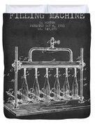 1903 Bottle Filling Machine Patent - Charcoal Duvet Cover