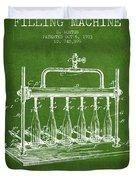 1903 Bottle Filling Machine Patent - Green Duvet Cover