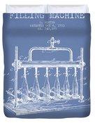 1903 Bottle Filling Machine Patent - Light Blue Duvet Cover
