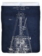1903 Electric Metronome Patent - Navy Blue Duvet Cover