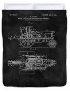 1903 Tractor Blueprint Patent Duvet Cover