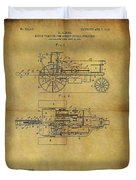 1903 Tractor Patent Duvet Cover