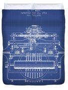 1903 Type Writing Machine Patent - Blueprint Duvet Cover