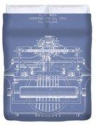 1903 Type Writing Machine Patent - Light Blue Duvet Cover
