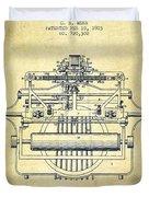 1903 Type Writing Machine Patent - Vintage Duvet Cover
