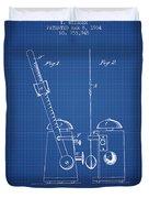 1904 Metronome Patent - Blueprint Duvet Cover