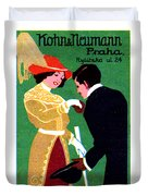 1905 Prague Fashion Poster Duvet Cover