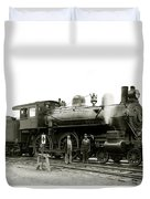 1905 Rail Engineers And Engine 1134 Duvet Cover
