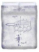 1906 Oyster Shucking Knife Patent Blueprint Duvet Cover