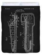 1906 Roller Coaster Patent Duvet Cover
