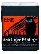 1907 Berlin Exposition Poster Duvet Cover