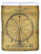 1907 Ferris Wheel Patent Duvet Cover