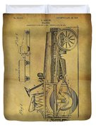 1907 Tractor Patent Duvet Cover